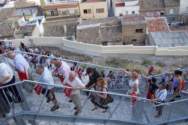 Inauguración acceso al Castillo de Sax