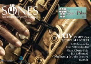 CONCIERTO. SIM SONES DE SAX Y C.P. SAN BLAS