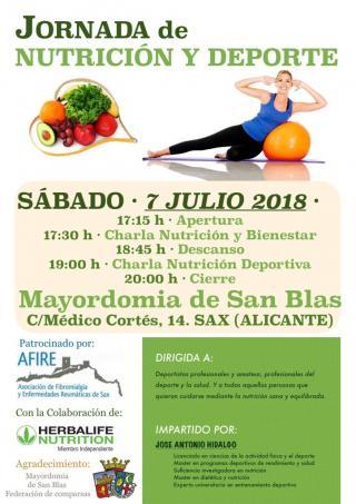 JORNADA DE NUTRICIÓN Y DEPORTE. AFIRE