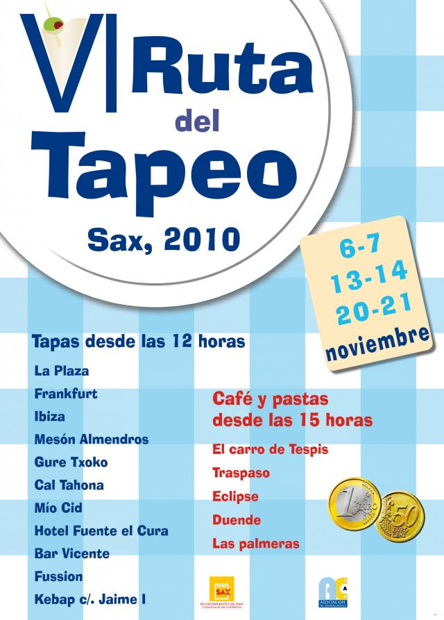 Cartel ruta tapeo 2010 for Oficina catastro alicante